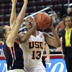 Kaneisha Horn attacks the basket.