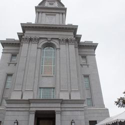 A group of visitors line up to take a tour of the Philadelphia Pennsylvania Temple of The Church of Jesus Christ of Latter-day Saints in Philadelphia, Pa. on Aug. 10, 2016.