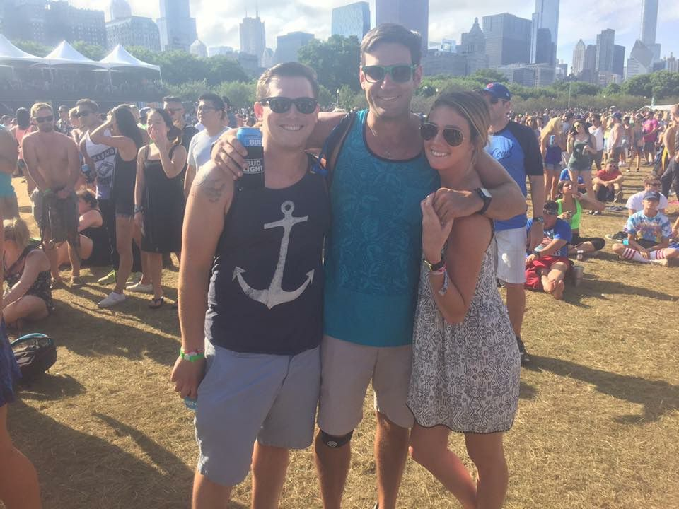 Danny Burke at one of 10 Lollapaloozas he has attended.