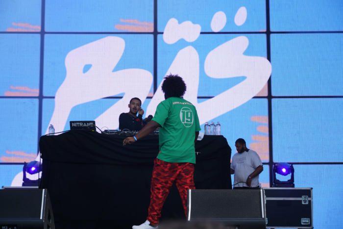 Bas (in green), DJ Nitrane (in black)