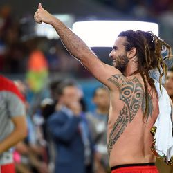 The US's <b>Kyle Beckerman's</b> dreads make us want to look back at it.