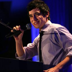 David Archuleta performs at the 2010 Mentors International Gala at the Marriott in Salt Lake City on Friday, October 8, 2010.