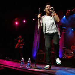 David Archuleta sings to a sold-out crowd at a headlining concert at the E Center in West Valley City on Friday.