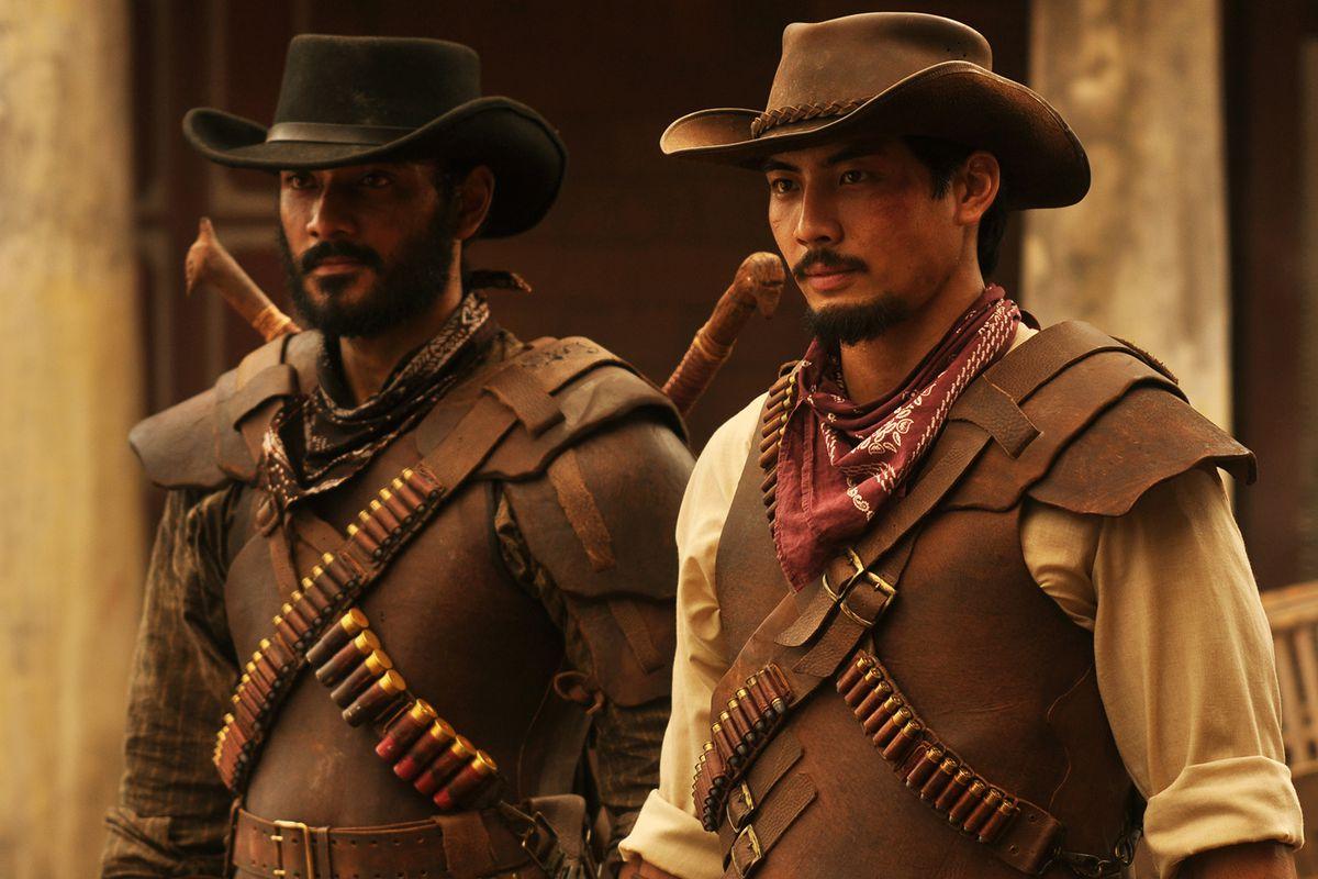 Yoshi Sudarso and Ario Bayu in Buffalo Boys