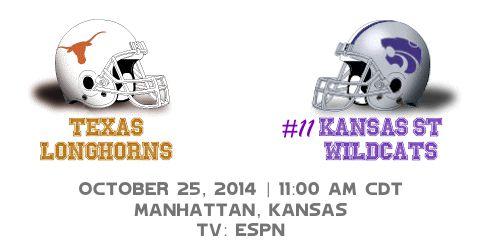 Texas at Kansas State Helmets