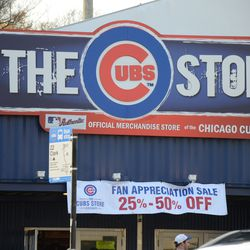 4:28 p.m. Sale at the Cubs Store, across from Wrigley Field -