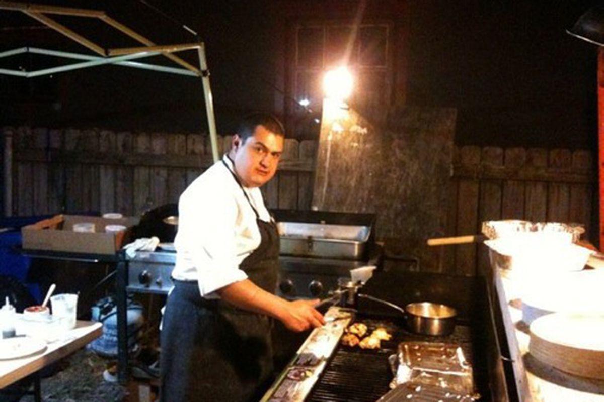Chef Joaquin Rodas at Bacchanal.