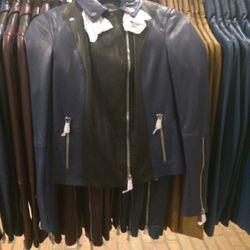 Leather jacket, size XS, $279 (was $1,295)