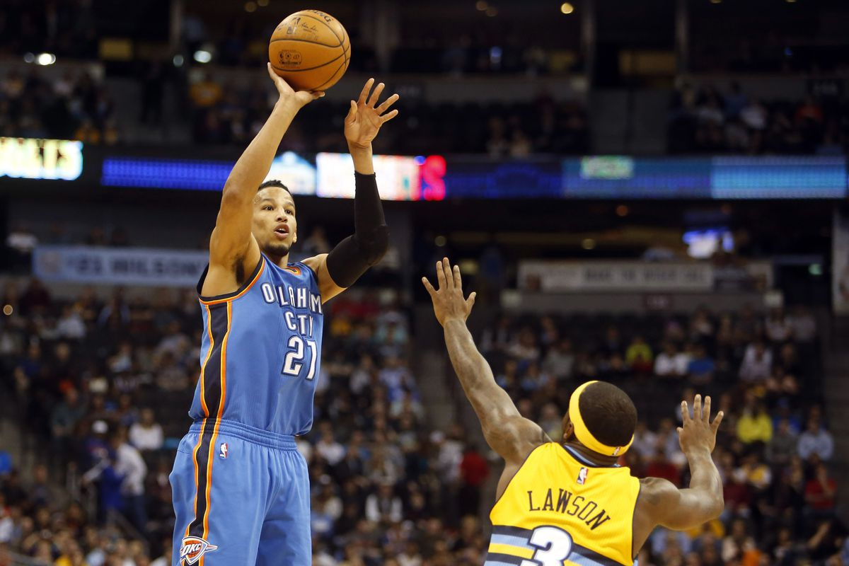 9c70eefd2 Andre roberson shoots breaking down mechanics of starting thunder jpg  1200x800 Thunder basketball roberson