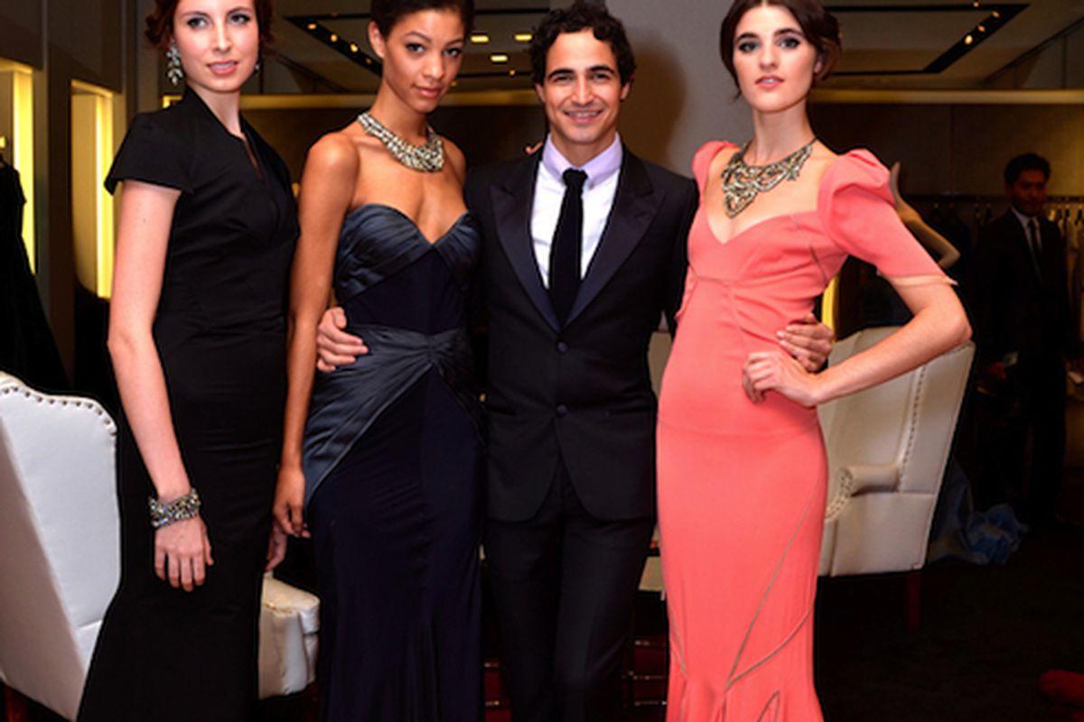 "Zac Posen with local models Adriana, Kerrin, Claire, and Helen. Photo: <a href=""http://hoggerandco.com/fashionhogger/zac-posen-at-neiman-marcus-1.html"">Hogger &amp; Co.</a>"
