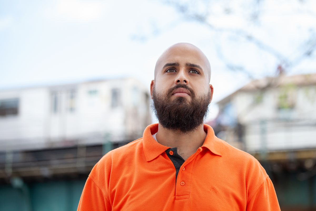 Michael Beltzer is running for City Council in The Bronx, May 18, 2021.