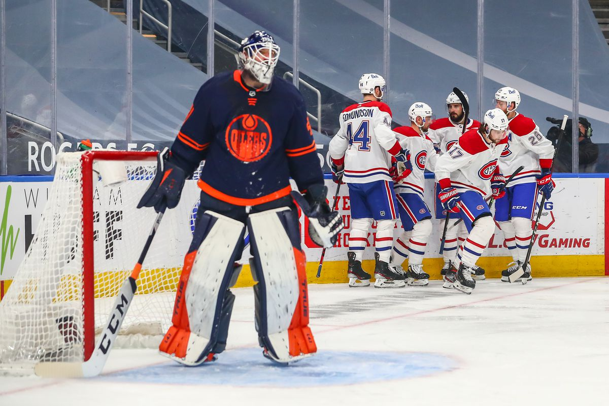 NHL: APR 21 Canadiens at Oilers