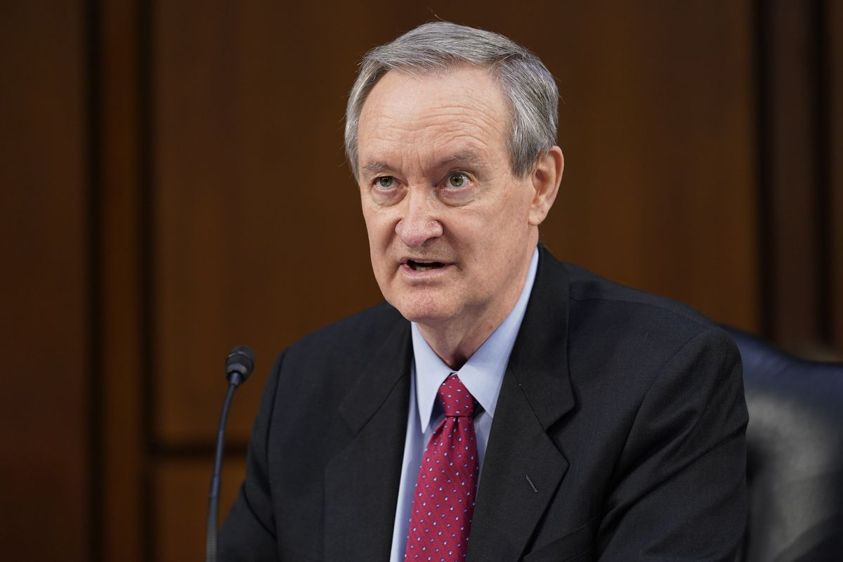 Sen. Mike Crapo, R-Idaho, questions Supreme Court nominee Amy Coney Barrett during the second day of her confirmation hearing before the Senate Judiciary Committee, Tuesday, Oct. 13, 2020, on Capitol Hill in Washington.