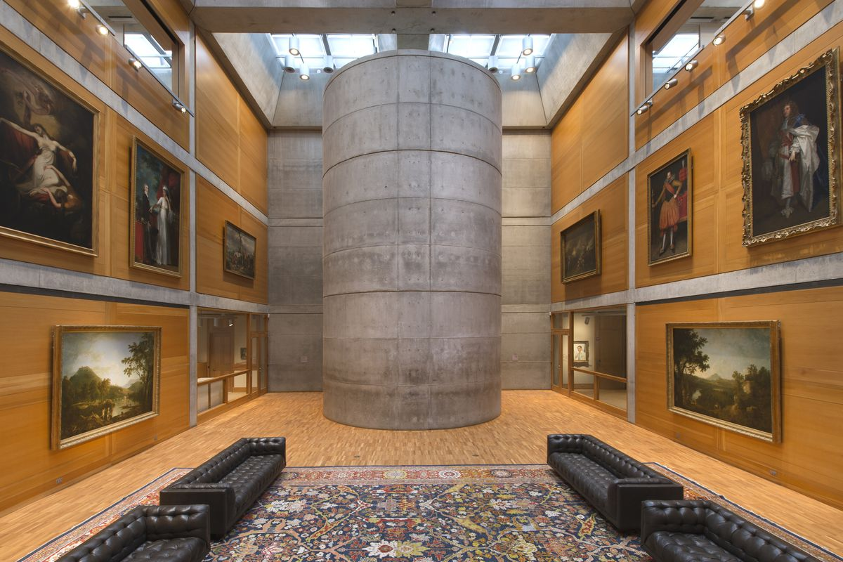 Yale Center for British Art, Library Court following reinstallation, facing east