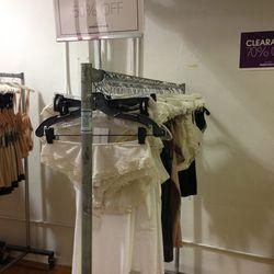 Hanro rack, 50% off retail