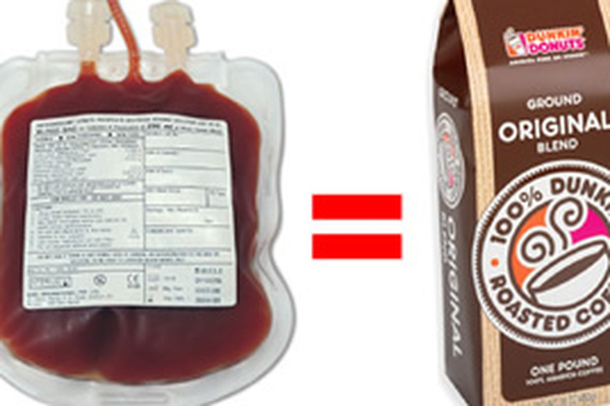 A Free Pound of Dunkin Donuts Coffee For a Pint of Blood - Eater