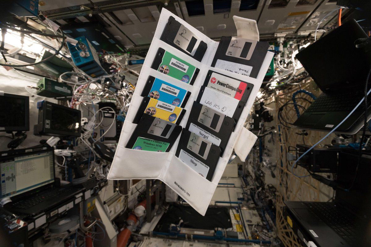the international space station is full of floppy disks the verge