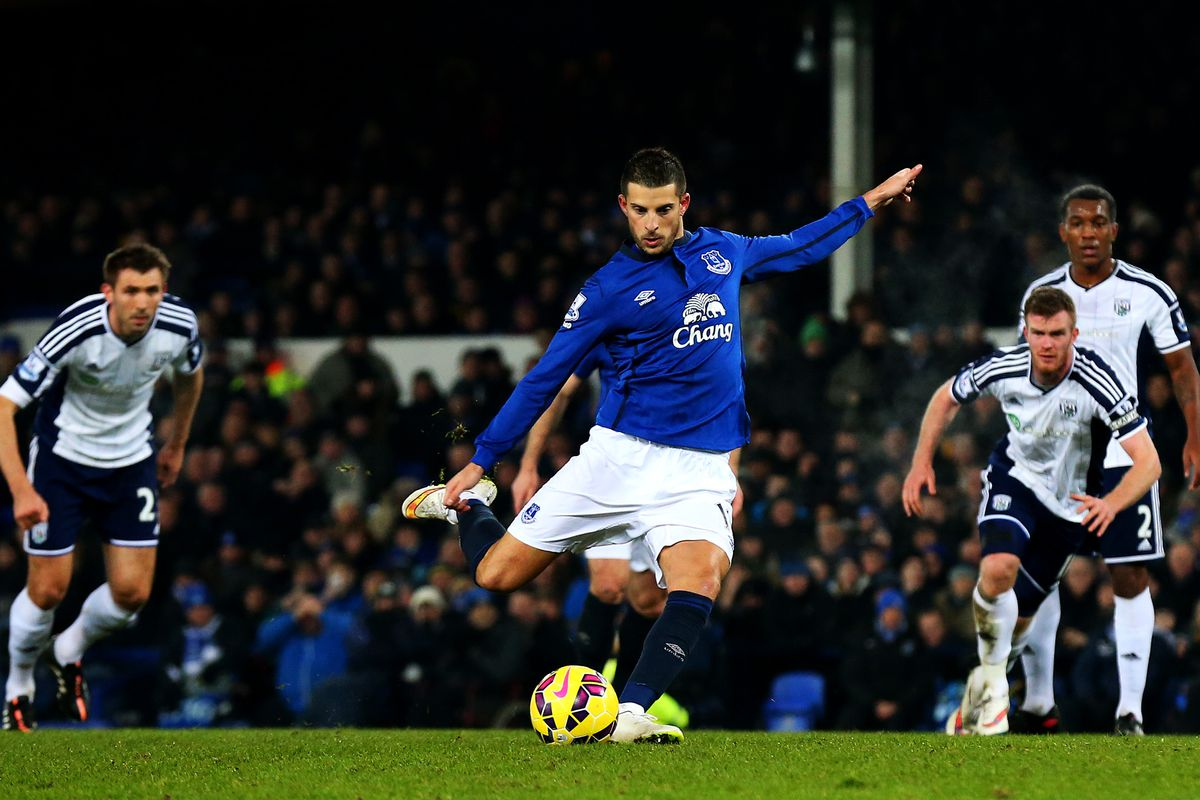 Probably the last penalty Mirallas will take, at least in an Everton jersey.