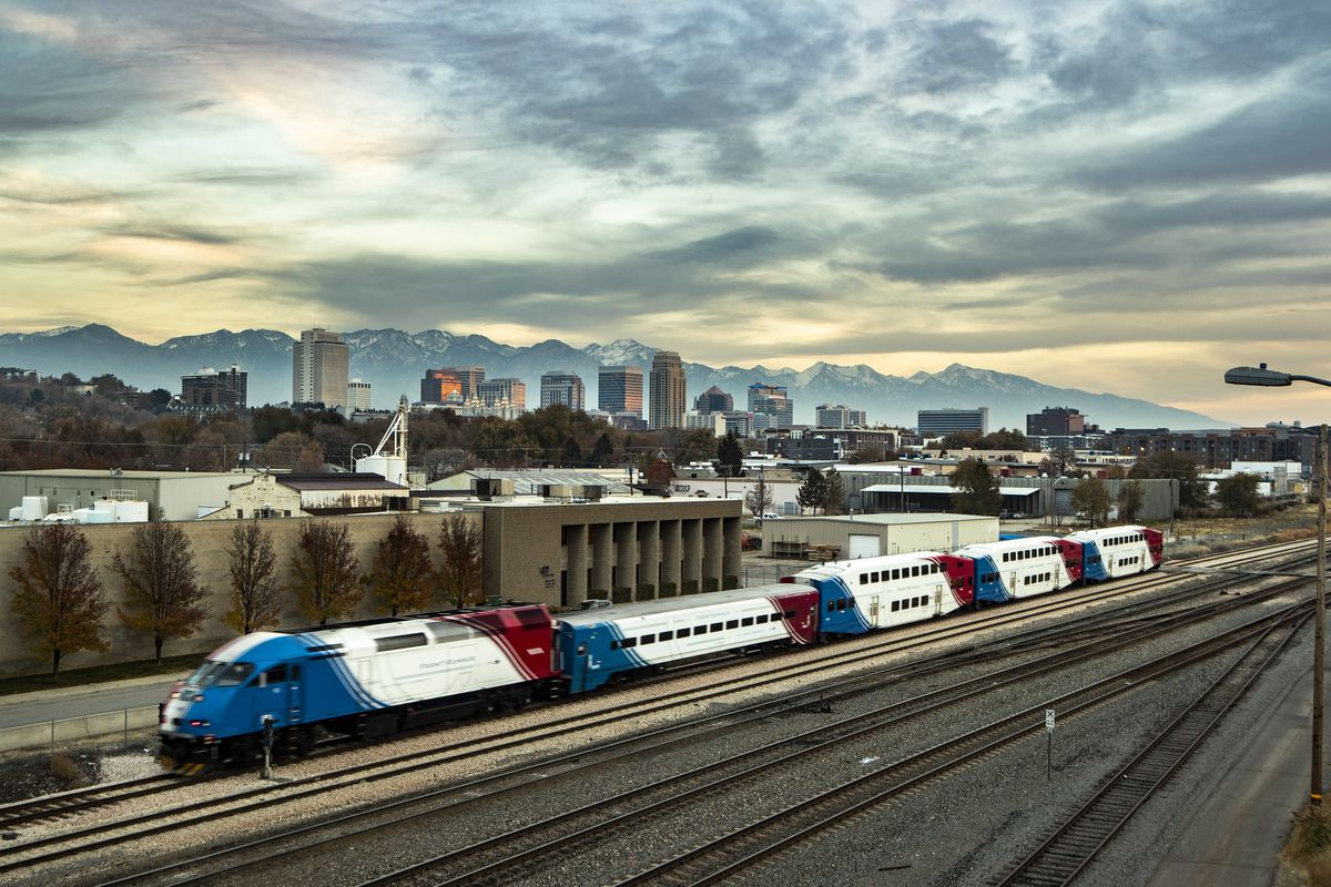 Skyline of Salt Lake City on Wednesday, Nov. 21, 2018. New CDC data shows two states above replacement fertility level. Experts aren't sure if trend shows births delayed or births foregone all together.