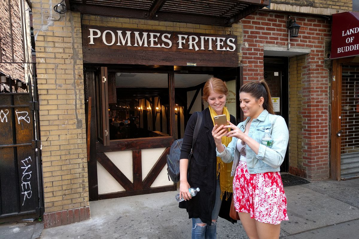 The new Pommes Frites at 128 MacDougal St.