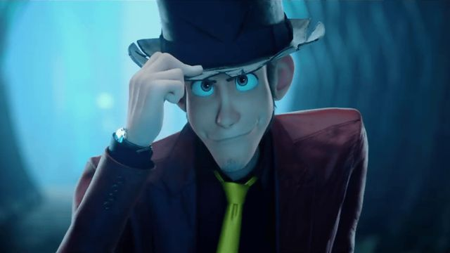 lupin iii in cg tips his hat