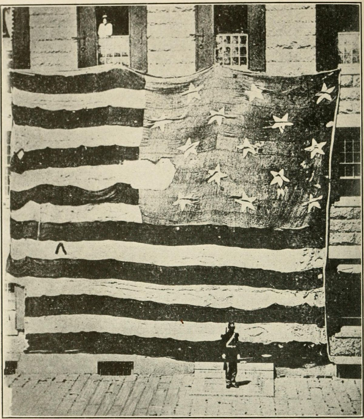 Garrison flag that flew over Fort McHenry in 1814
