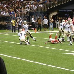 Hartley makes his kick.