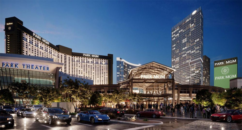 Park MGM and Eataly entrance rendering
