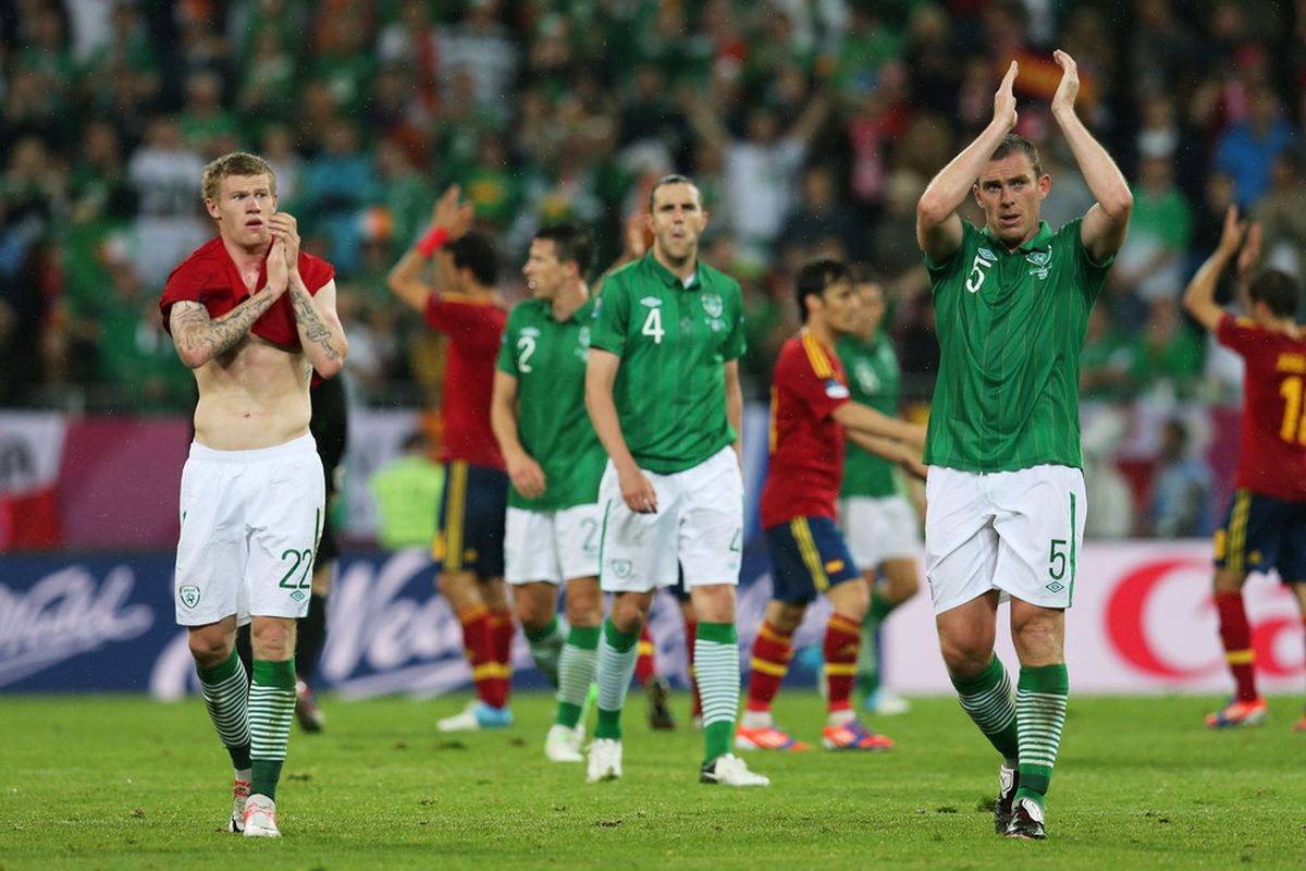 James McClean and John O'Shea both saw action for Ireland in the drubbing against Spain last night