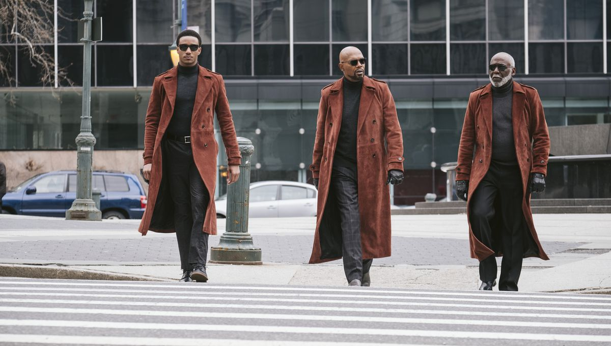 Shaft - John Shaft Jr., John Shaft II, John Shaft crossing the street together