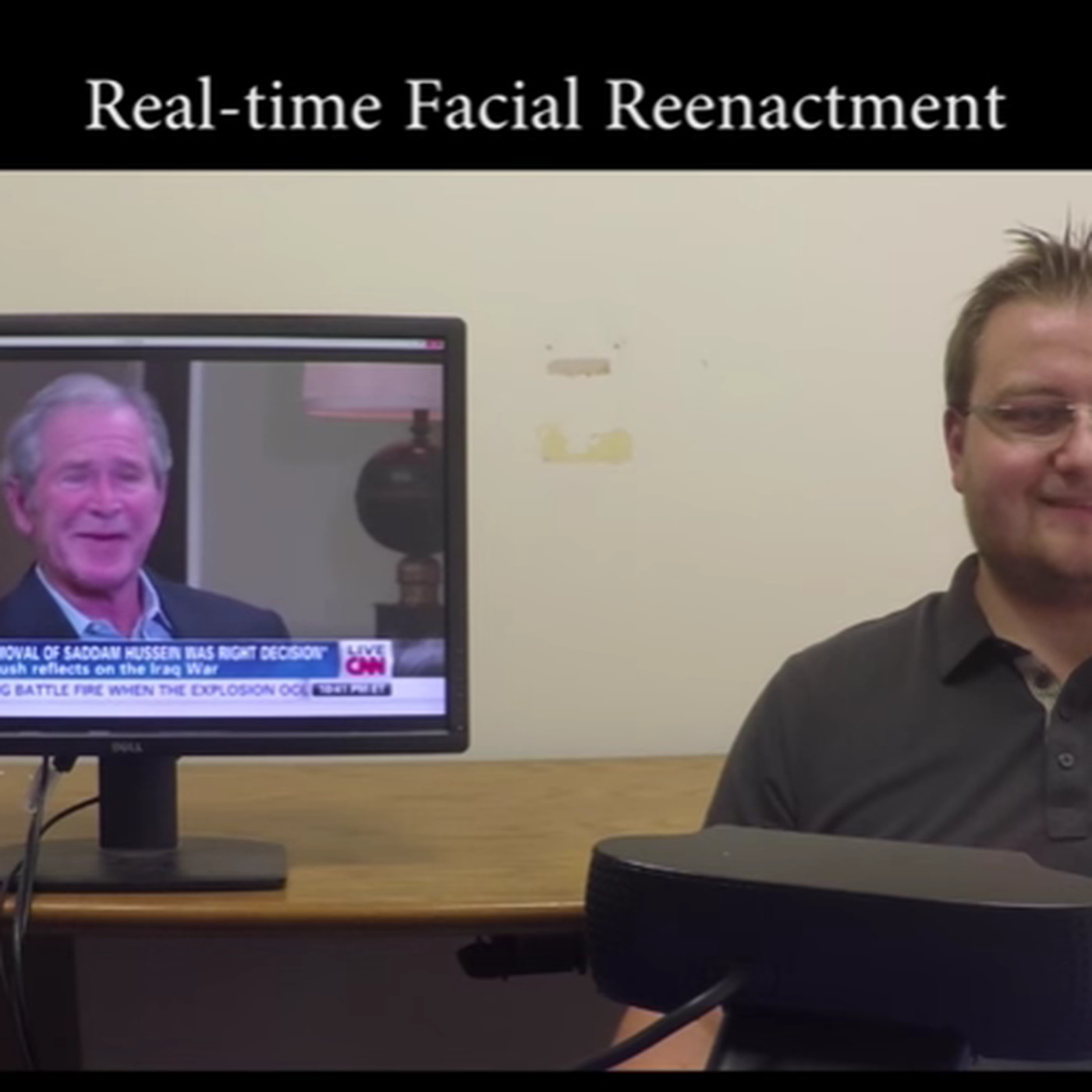 Watch a man manipulate George Bush's face in real time - The