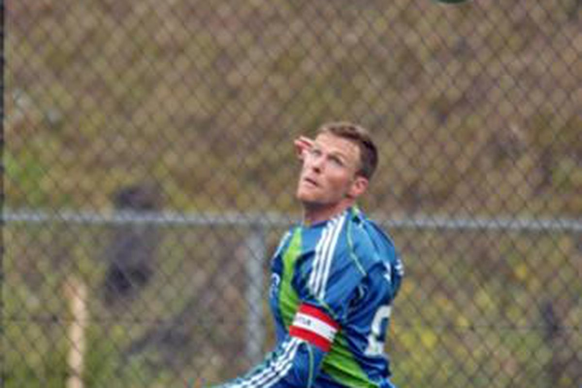 """Taylor Graham in Training - Photo by Greg Roth, <a href=""""http://soundersfaninsider.net/"""" target=""""new"""">Sounders Fan Insider</a>"""