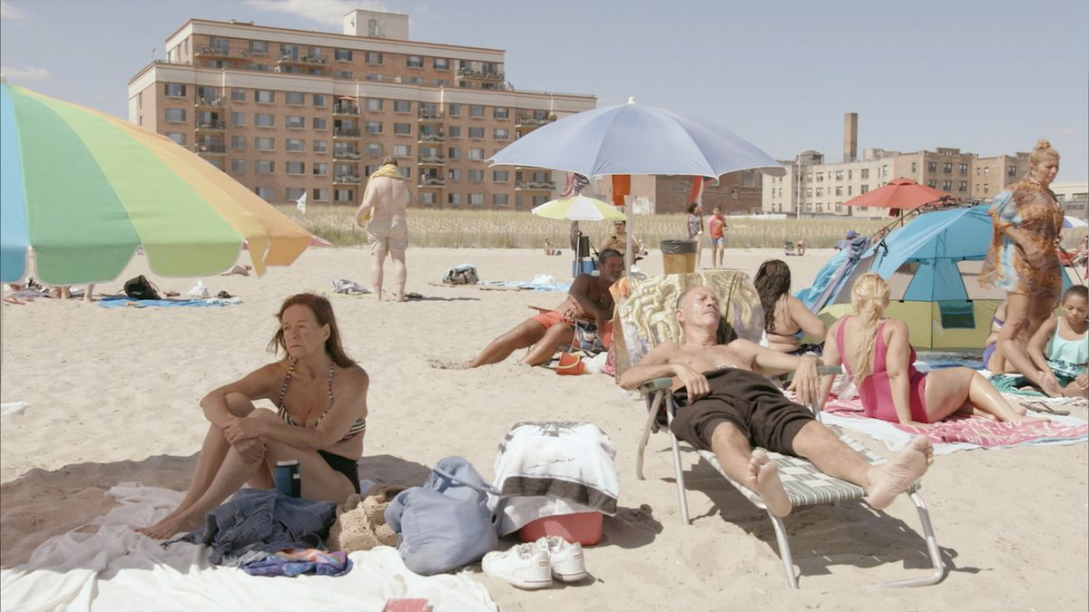 New Yorkers on the beach on a hot August day in The Hottest August.