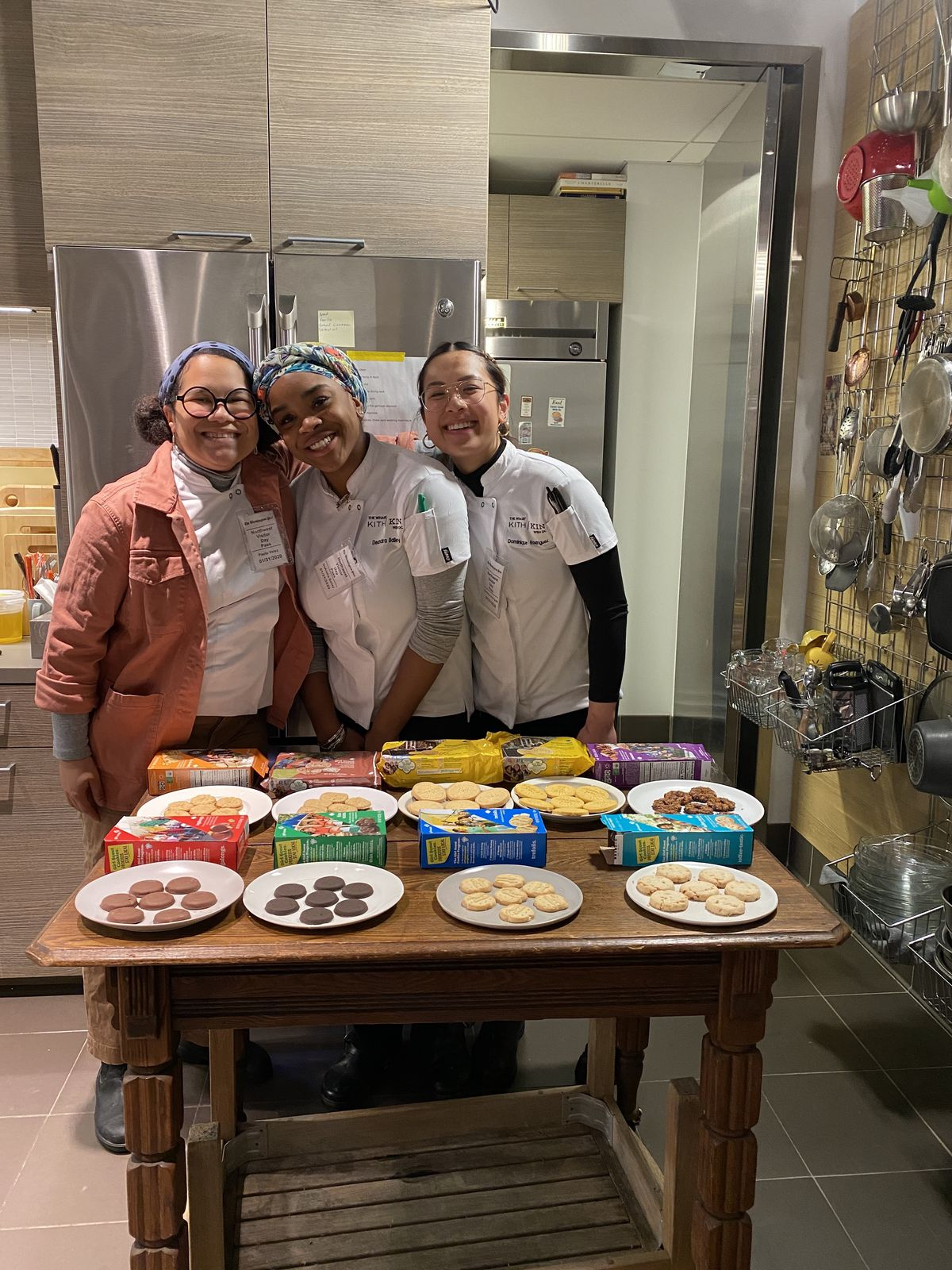 The Kith/Kin pastry team of (from left) Paola Velez, DeAndra Bailey, and Nikkie Rodriguez will all contribute to Bakers Against Racism.