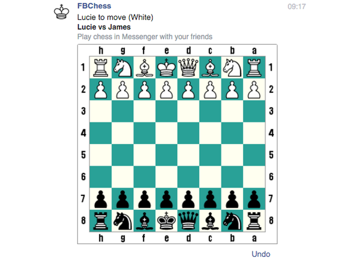 you can also use fbchess resign to end a match show you and your friends vital statistics with fbchess stats and pick which color you start with by