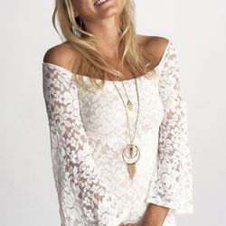 """""""The <a href=""""http://adornbysarahlewis.com/collections/necklaces/products/full-circle-necklace"""">Full Circle Necklace</a> ($258) features a quartz crystal pendant that hangs within two concentric circles. A fringe of chain cascades below. I love the feelin"""