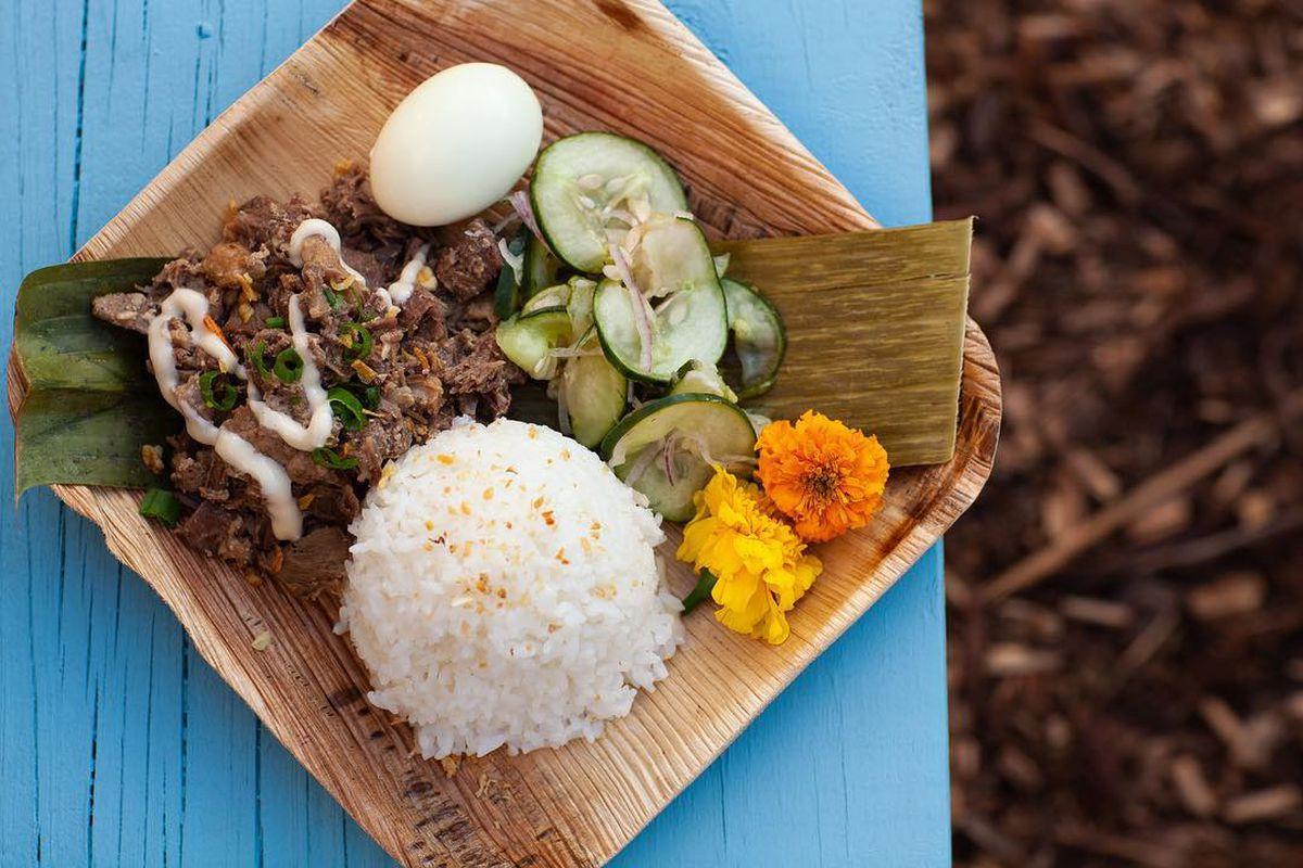An adobo dish from Carabao Express