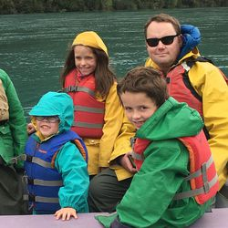 Amy Choate-Nielsen's family took a trip down the Kenai River in Alaska and saw a grizzly bear.