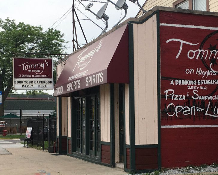 Tommy's on Higgins, the Northwest Side bar where police Sgt. John R. Schuler was accused of striking a female bartender in the head with a full bottle of beer in 2012.   Tim Novak / Sun-Times