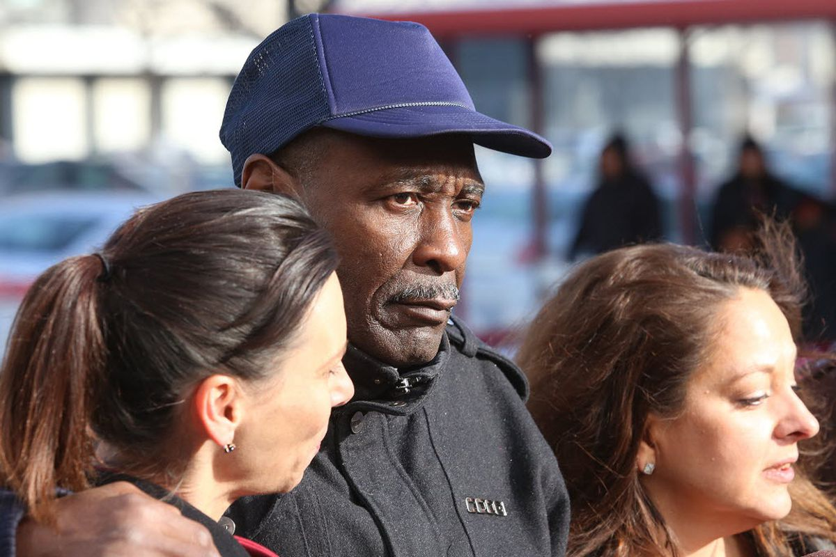Stanley Wrice in December 2013 after being released from prison.