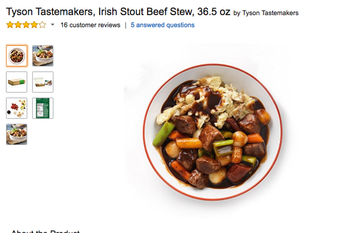 Blue apron questions - Tyson Tastemakers Meal Kit Are Sold On Amazon Fresh Screenshot
