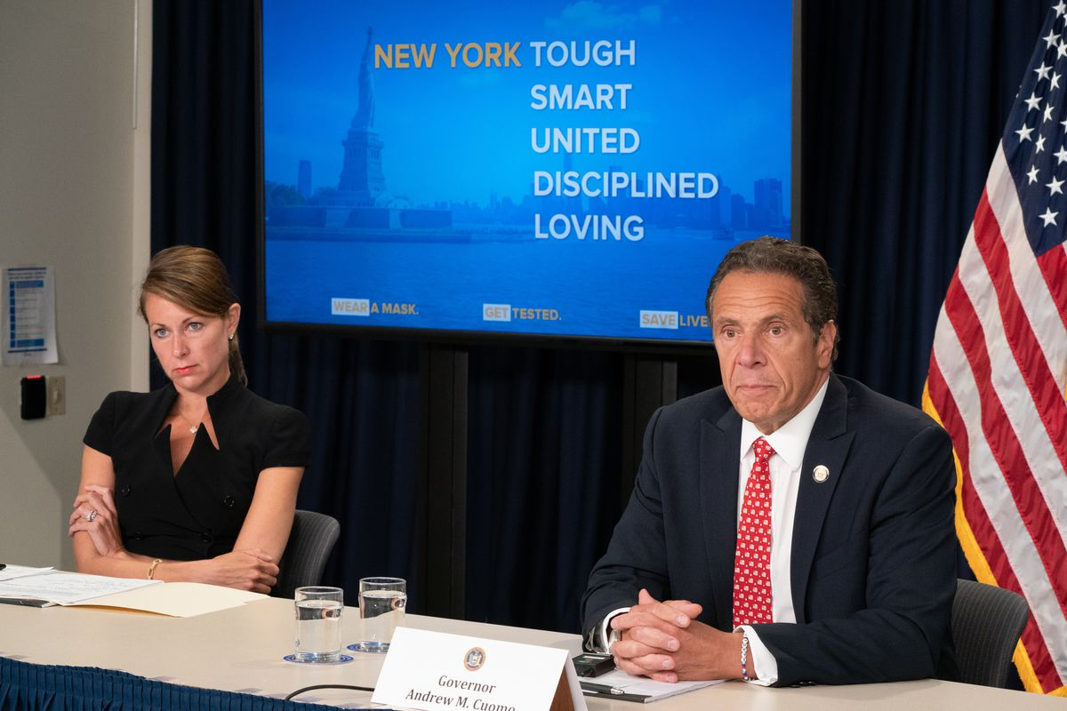 Governor Andrew Cuomo holds daily Coronavirus briefing with Dr. Howard Zucker, NYS Health Commissioner, Melissa DeRosa, Secretary to the Governor and Robert Mujica, Director of the Budget NYS.