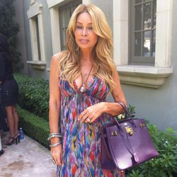 Faye Resnick and one of her many Hermès bags