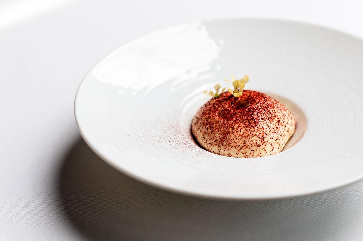 Panna cotta on the new dessert tasting menu at Restaurant Eugene in Buckhead