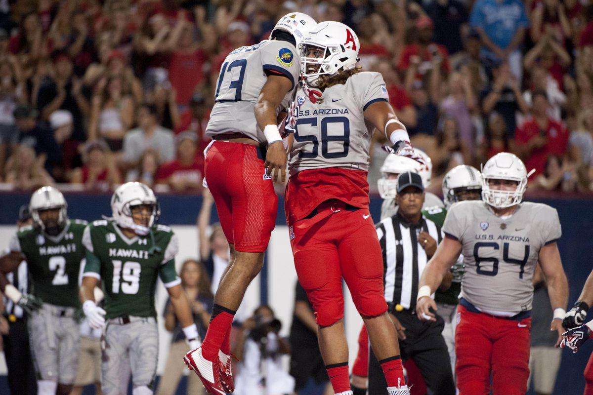 NCAA Football: Hawaii at Arizona