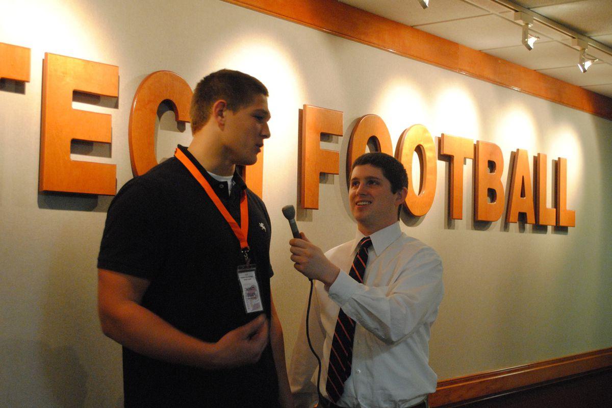 Speaking To Wyatt Teller At The 2012 Spring Game