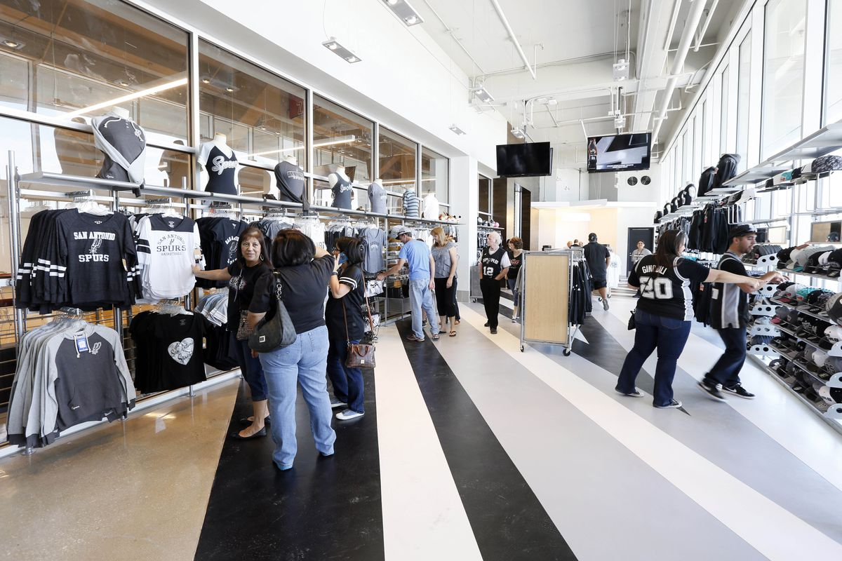 the best attitude b4787 0ea7b Spurs kick off playoffs with a new fan shop - Pounding The Rock