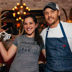 Team Root & Bone with their antlered friend, Tabasco