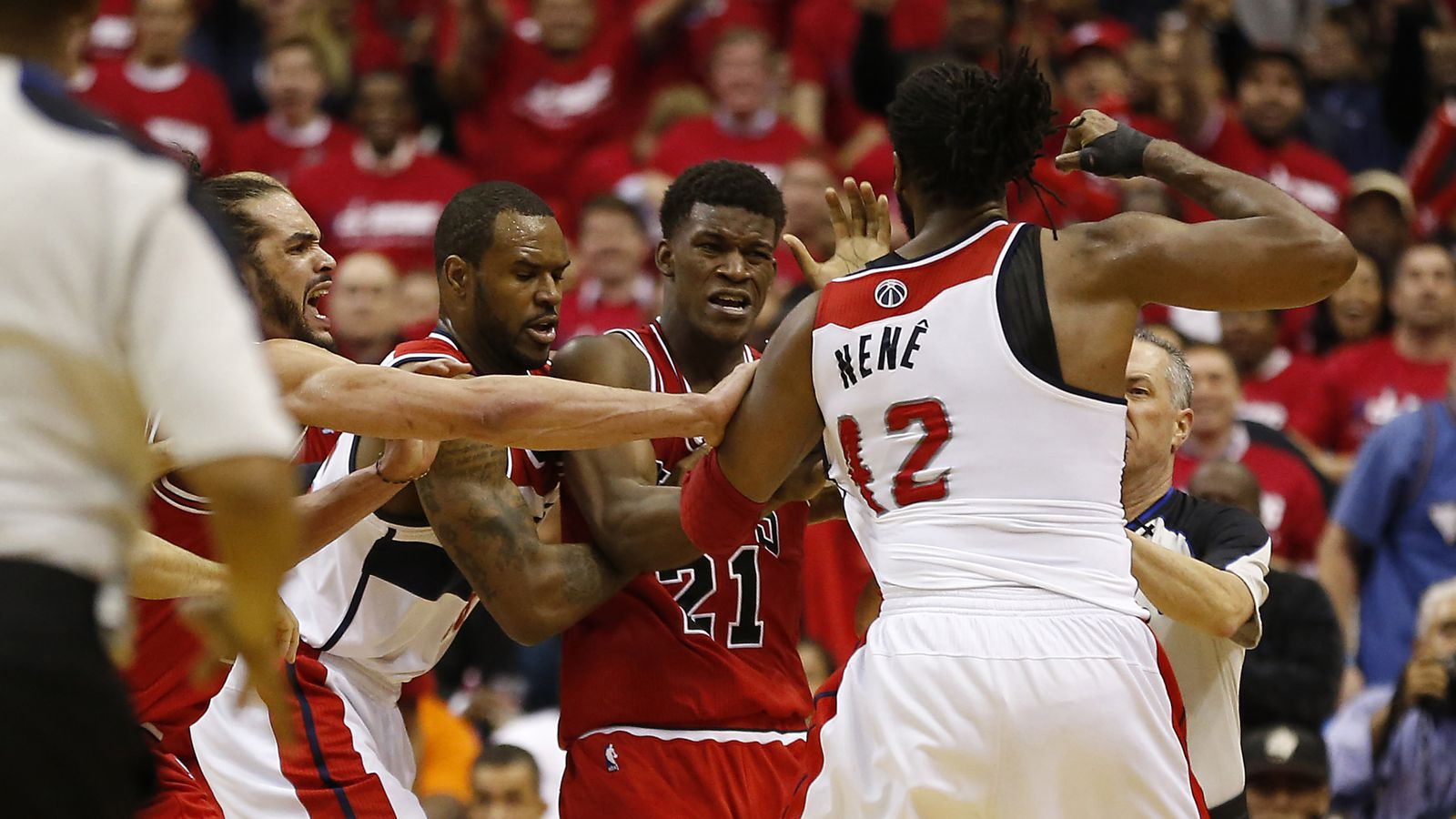 nene suspended for game 4 after altercation with jimmy