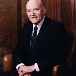 """LDS Church President Howard W. Hunter told the story of Mary Ann Baker, writer of the hymn, """"Master the Tempest is Raging."""""""
